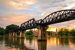 Kanchanaburi (Thailand), The Bridge on the River Kwai