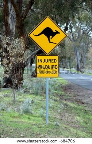 Kangaroo sign. - stock photo