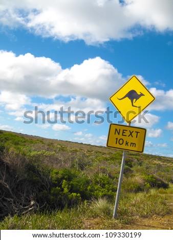 Kangaroo Sign in South Australia