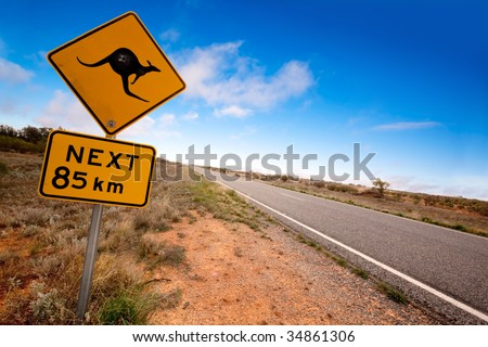 Warning Kangaroo