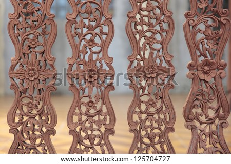 Kanok background as wooden fence