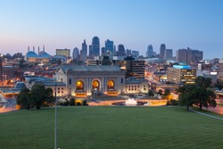Kansas City. Image of the Kansas City skyline at twilight.