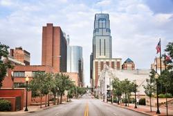 Kansas City, Missouri - city in the United States. Downtown skyline.