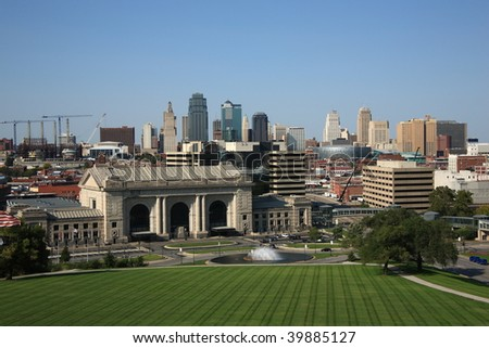Kansas City Skyline with Union Station