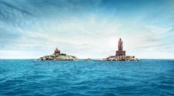 kanyakumari Vivekananda Rock Memorial and Thiruvalluvar Statue tamil nadu india