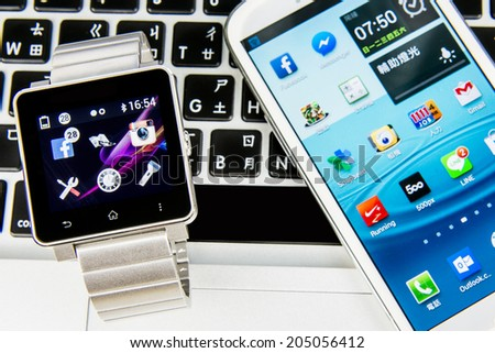 KAOHSIUNG, TAIWAN - FEBRUARY 06, 2014: Social media are trending and both business as consumer are using it for information sharing and networking.