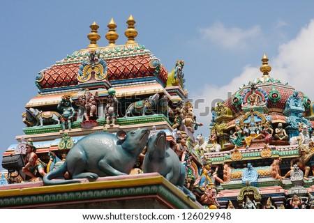 Kapaleeshwarar temple in Chennai, Tamil Nadu, India. - stock photo