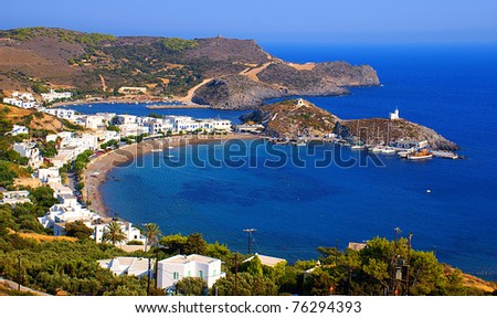 Kapsali village at Kithira island in Greece
