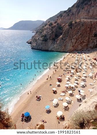 Kaputas beach in Antalya, Turkey Stok fotoğraf ©