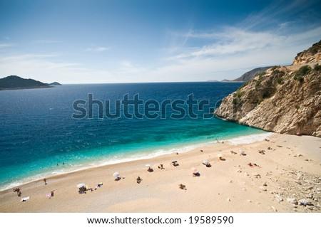 Kaputas beach in the Turkish Mediterrannean, located between the towns of Kas and Kalkan.