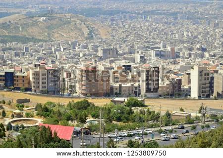 KARAJ, Iran: Real estate developments in the city skyline of Karaj, Iran. #1253809750