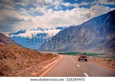 Karakorum Highway in Pakistan #326384492