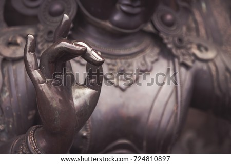 Karana mudra hand position expresses a very powerful energy with which negative energy is expelled. This hand gesture is also called warding off the evil.
