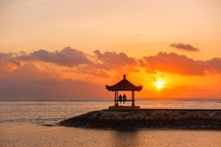 Karang Beach, Sanur, Bali, Indonesia with beautiful scenery