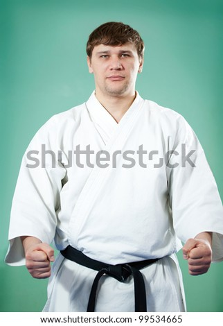Karate master in kimono
