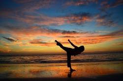 Karate / Tae Kwon Do Kick Sunset