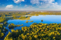 Karelia in Russia. Landscape of Lake Ladoga. Karelia Islands. Northern nature. Russia day. Ladoga on summer day. Tourism in Russia. Rest on lake Karelia. Nature of city of Petrozavodsk.