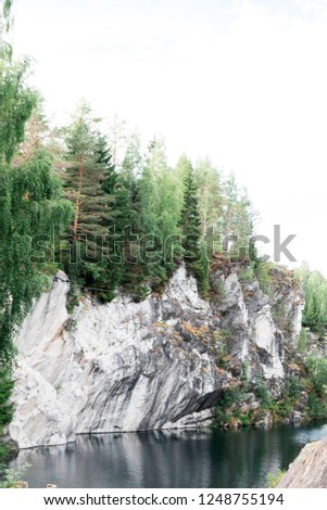 Karelian roks and river #1248755194