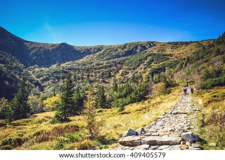 Karkonosze Mountains - Kocioł Łomniczki Zdjęcia stock ©