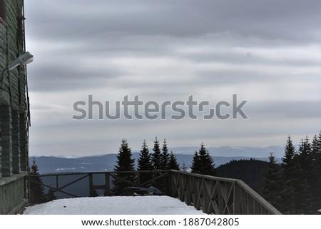 Karlı bir gün ve doğanın muhteşem uyumu Stok fotoğraf ©