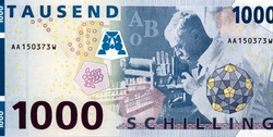 Karl Landsteiner Portrait from Austria 1000 Schilling 1997 Banknotes. was an Austrian biologist, he received the Nobel Prize in Physiology or Medicine. He was posthumously awarded the Lasker Award.