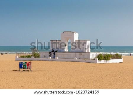 Karl Schmidt Memorial at Elliot's Beach, Chennai, Tamil Nadu, India #1023724159