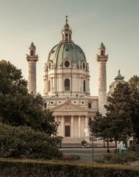 Karlskirche in Vienna city, Austria