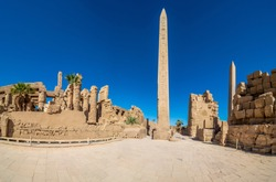 Karnak temple complex with Obelisk in Luxor, Egypt