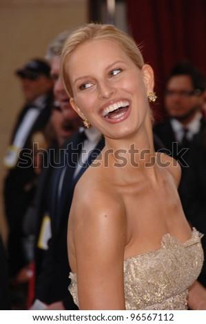 KAROLINA KURKOVA At The 78th Annual Academy Awards Kodak Theatre In Hollywood March