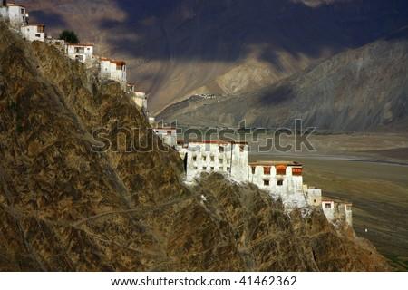 Karsha monastery in Zanskar range ,northern Himalayas