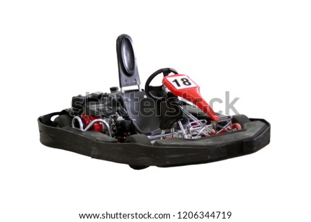 Kart isolated on white background. view front and side. No man #1206344719