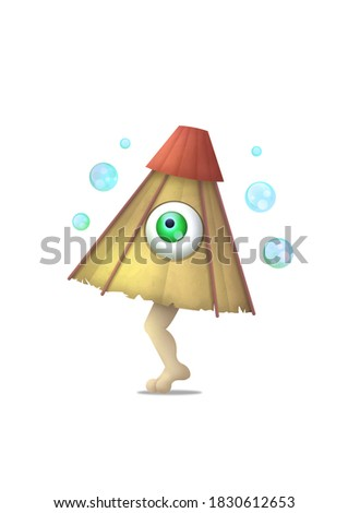 Kasa-obake is the one of the urban legend from Japan Zdjęcia stock ©