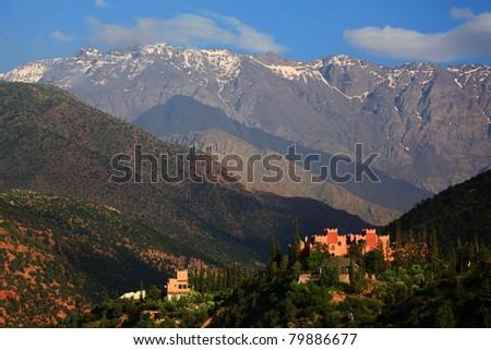 Kasbah Tamadot, Sir Richard Branson's Moroccan Retreat Stock photo ©