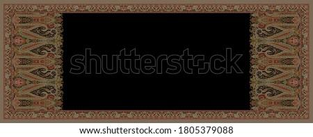 kashmir shawl traditional silk design pattern background Photo stock ©