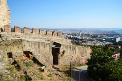 Kastra, Ano Poli (Upper Town), or the Citadel, Thessaloniki, Greece.