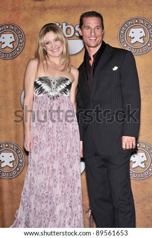 Kate Hudson & Matthew McConaughey at the 14th Annual Screen Actors Guild Awards at the Shrine Auditorium, Los Angeles, CA. January 27, 2008  Los Angeles, CA Picture: Paul Smith / Featureflash - stock photo