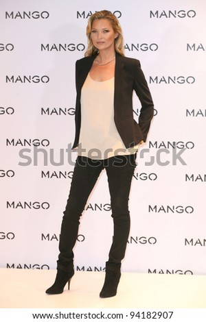 Kate Moss is announced as the new face of Mango, Mango Store, Oxford St, London. 24/01/2012  Picture by: Alexandra Glen / Featureflash