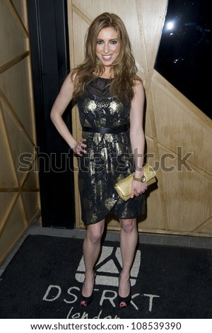 Kate Walsh arriving at DSTRKT in Soho London for Nik Ede's 38th Birthday Party, London. 02/05/2012 Pics by: Simon Burchell / Featureflash