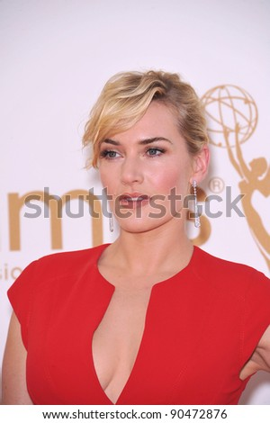 Kate Winslet arriving at the 2011 Primetime Emmy Awards at the Nokia Theatre, L.A. Live in downtown Los Angeles. September 18, 2011  Los Angeles, CA Picture: Paul Smith / Featureflash