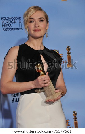 Kate Winslet at the 69th Golden Globe Awards at the Beverly Hilton Hotel. January 15, 2012  Beverly Hills, CA Picture: Paul Smith / Featureflash
