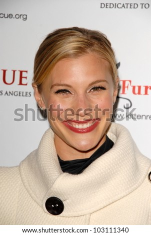 """Katee Sackhoff at Kitten Rescue's """"Fur Ball at the Skirball"""" celebrating 10,000 cats saved, Skirball Center, Los Angeles, CA. 12-05-09"""