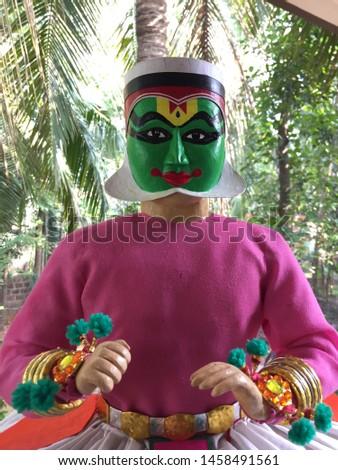Kathakali handmade art handmade statue work on progress #1458491561
