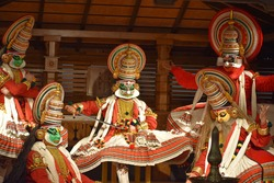 Kathakali is a major form of classical Indian dance. Kathakali is a Hindu performance art in the Malayalam-speaking southwestern region of India (Kerala)