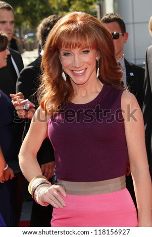 Kathy Griffin at the 2012 Primetime Creative Arts Emmy Awards, Nokia Theatre L.A. Live, Los Angeles, CA 09-15-12 - stock photo