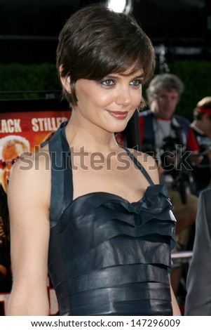 "Katie Holmes  arriving at  ""Tropic Thumder"" Premiere at the Mann's Village Theater in Westwood, CA August 11, 2008"