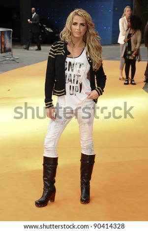 """Katie Price arrives for the premiere of """"The Lion King 3D"""" at the bfi IMAX cinema, London. 25/09/2011  Picture by Steve Vas/Featureflash"""
