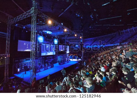 KATOWICE, POLAND - JANUARY 18: Main stage at Intel Extreme Masters 2013 - Electronic Sports World Cup on January 18, 2013 in Katowice, Silesia, Poland.