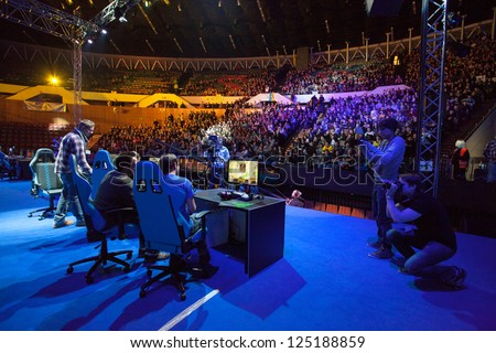 KATOWICE, POLAND - JANUARY 19: Main stage at Intel Extreme Masters 2013 - Electronic Sports World Cup on January 19, 2013 in Katowice, Silesia, Poland.