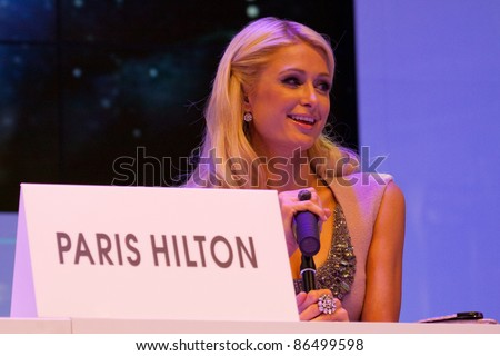 KATOWICE, POLAND - OCTOBER 12: Paris Hilton at the opening of Silesia City Center on October 12, 2011 in Katowice, Silesia, Poland.