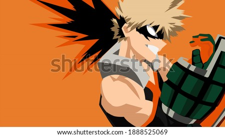 Katsuki Bakugo is one of the two main characters of the My Hero Academia - Known as Katchan Foto stock ©